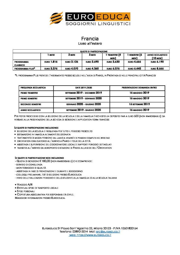 liceo-all-estero-francia | Euroeduca Soggiorni Linguistici