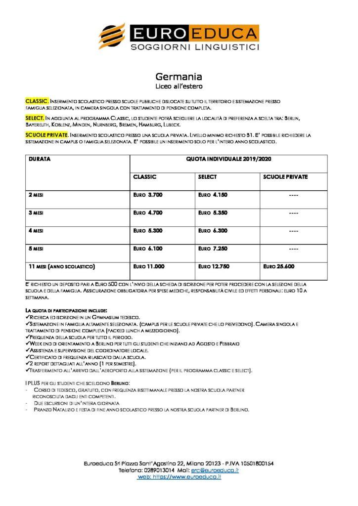 liceo-all-estero-germania | Euroeduca Soggiorni Linguistici