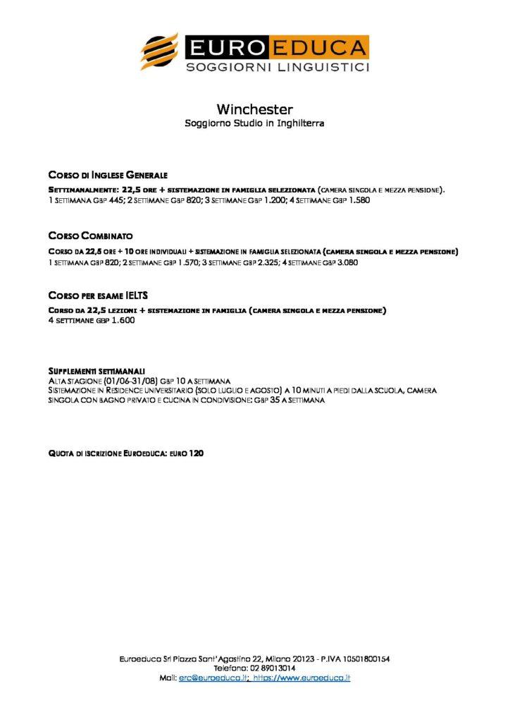 soggiorni-studio-winchester | Euroeduca Soggiorni Linguistici
